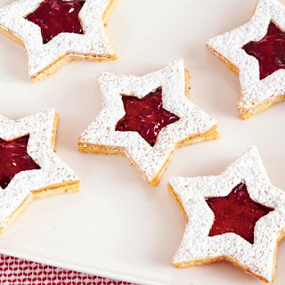 Linzer Star Christmas Cookies.