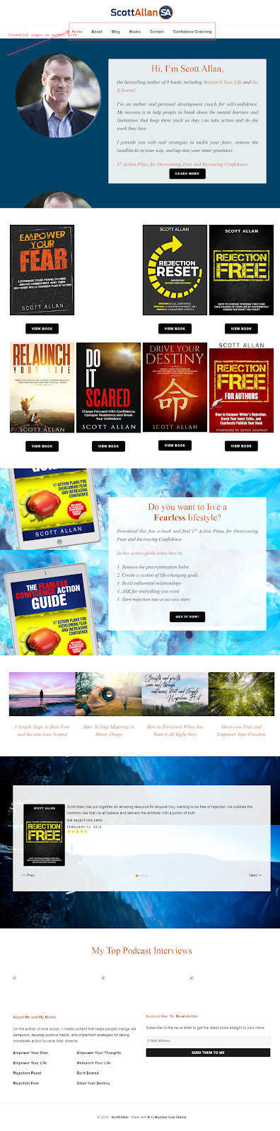 examples of an author website for marketing