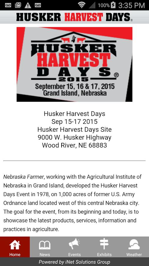 Husker Harvest Days Show- screenshot
