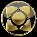 3D GOLD BLACK Next Launcher icon