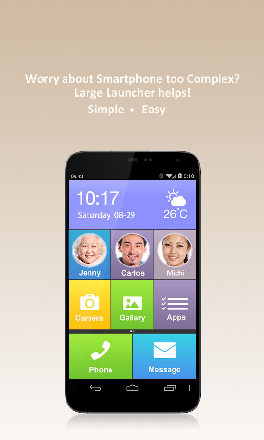 Large Launcher - Big Icon,Font- screenshot
