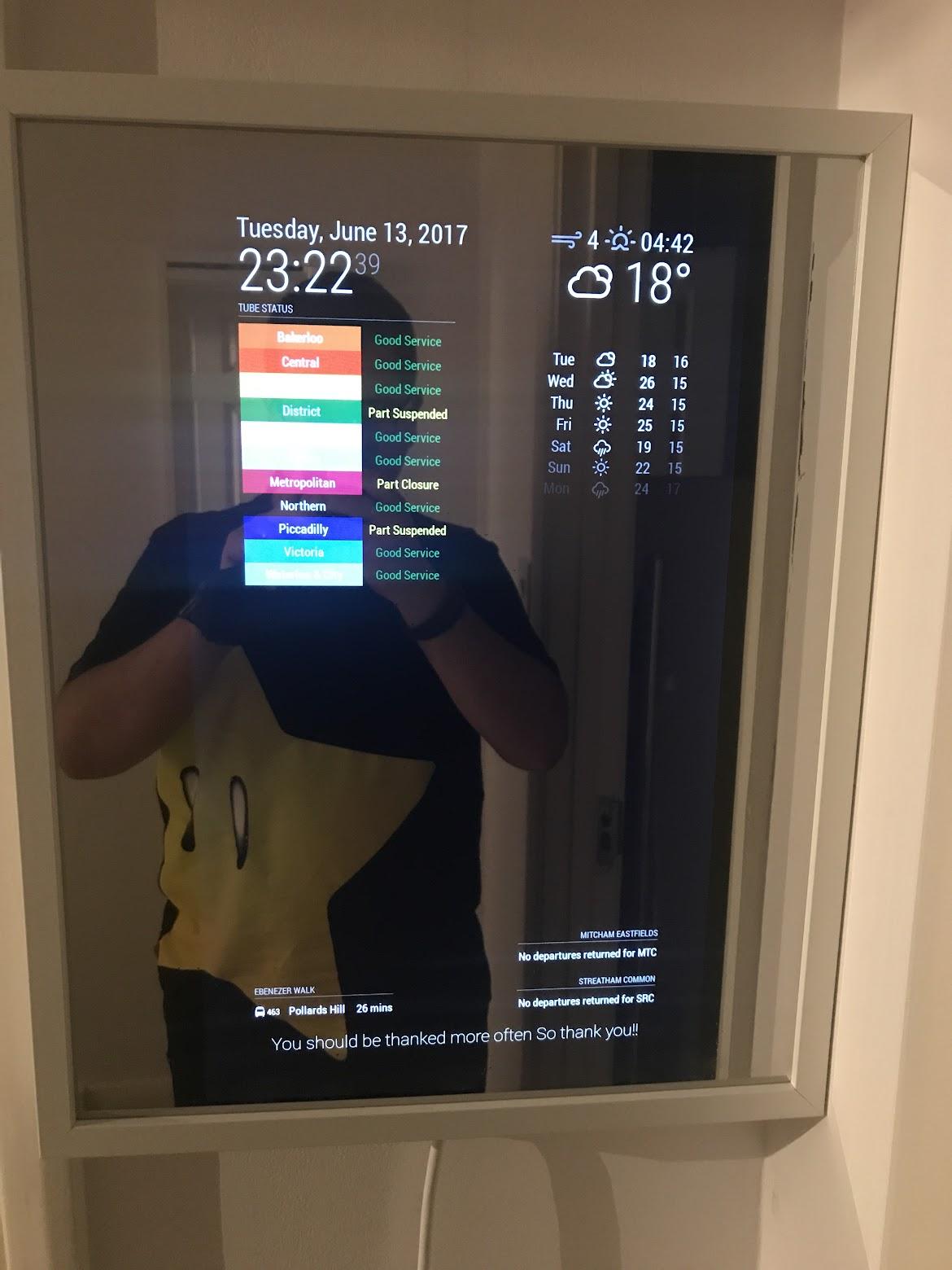 22\'\' Display + 40cmx50cm IKEA Frame + PIR Sensor | MagicMirror Forum