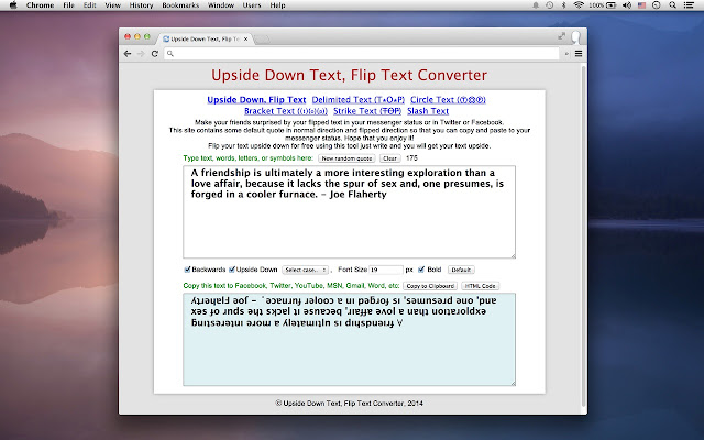 Flip Text for Social