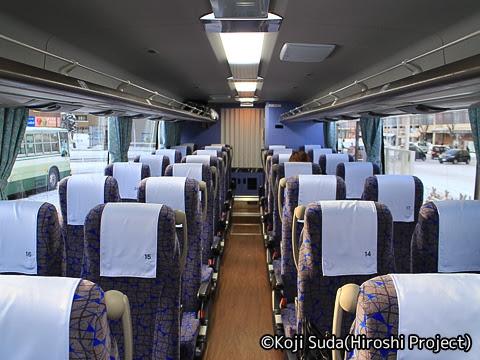 弘南バス「スカイ号」 ・992 車内