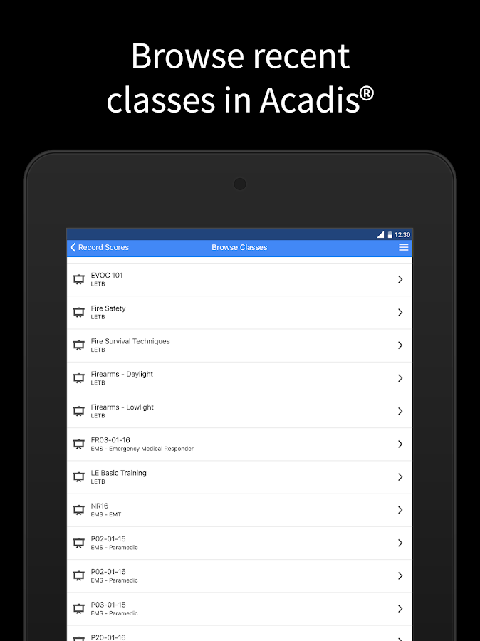Acadis Mobile- screenshot