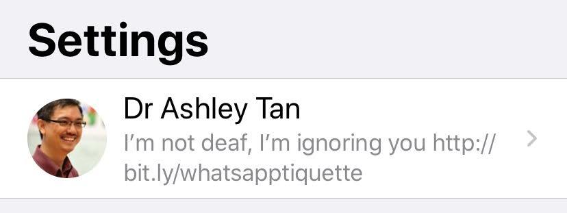 My WhatsApp profile.