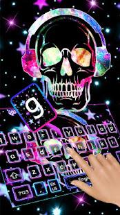 Galaxy Music Skull Keyboard