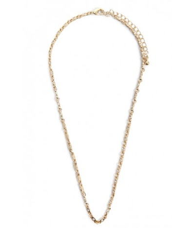 Bijuterii Femei Forever21 Rhinestone Chain Necklace GOLDCLEAR