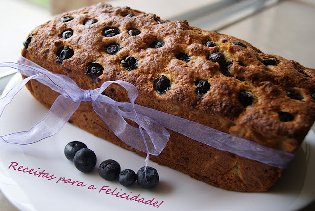 Banana Cake with Blueberries and Coconut Recipe