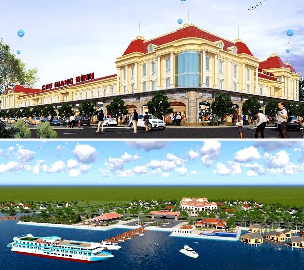 Phối cảnh chợ và bến thuyền Giang Đình ở Nghi Xuân (Hà Tĩnh) được Công ty CP Song Ngư Sơn đầu tư, tạo điểm nhấn du lịch dọc sông Lam