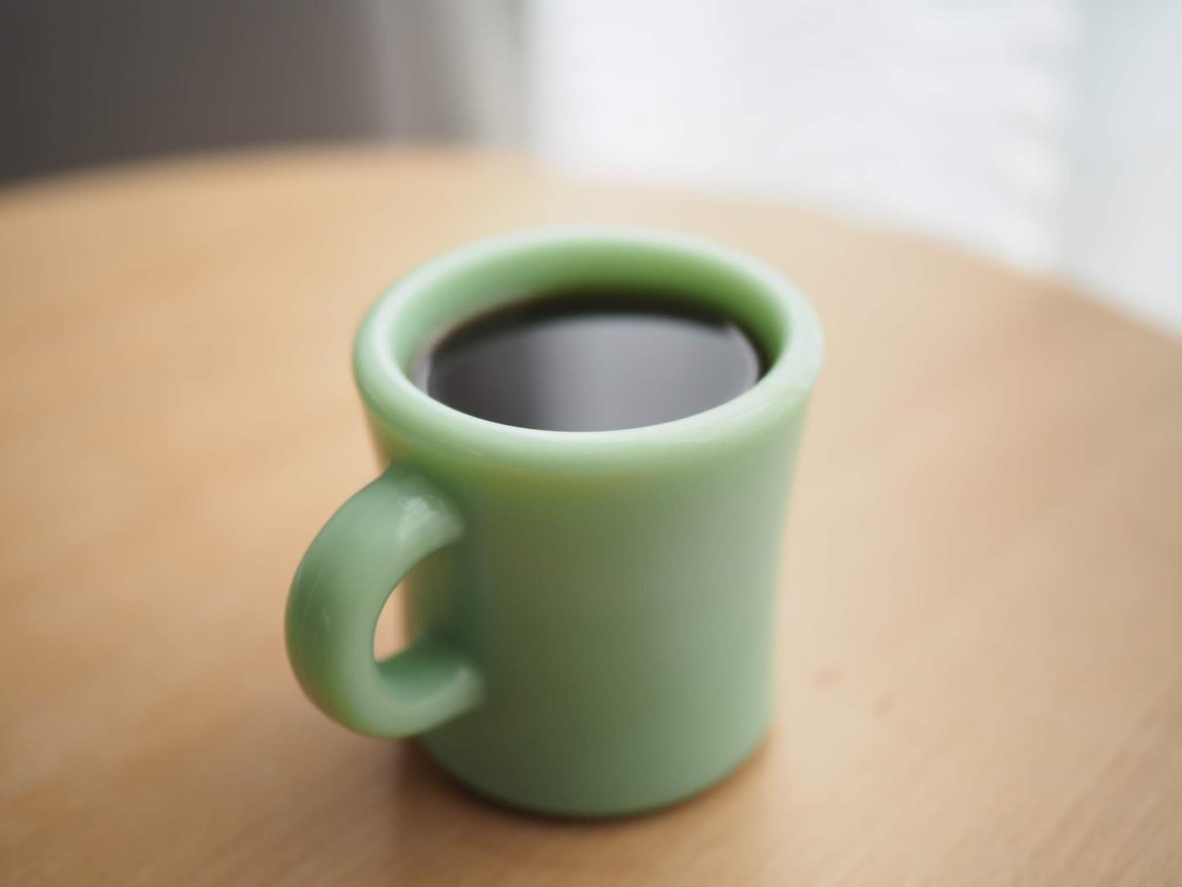 水出しコーヒーを温めた