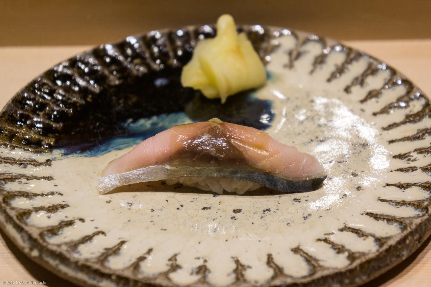 〆鯖(九州五島産)白板昆布のせ