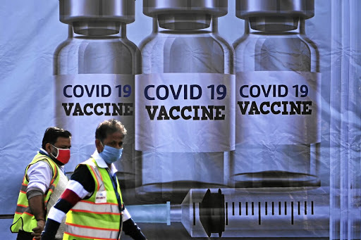 Containment: A container stacked at the Indira Gandhi International Airport, which will be used as a Covid-19 vaccine handling and distribution centre. Picture: AFP via Getty Images/Sajjad Hussain