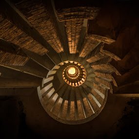 Spiral pornstairs by Marlou Nijpels - Buildings & Architecture Decaying & Abandoned ( urban exploration, urbex, unique, stairs, hdr, staircase, castle, spiral, light, abandoned, pornstairs,  )