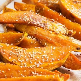 Glazed Roasted Sweet Potatoes.