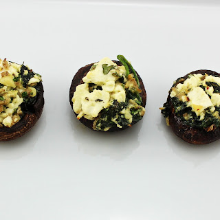 Feta Spinach Stuffed Mushrooms