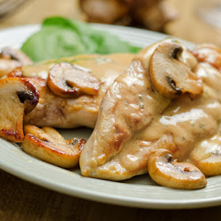 Chicken Breasts with Mushroom Cream Sauce.