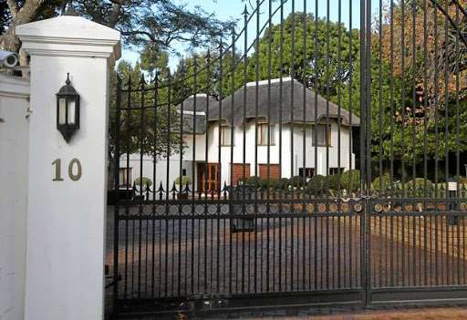 No10 Dawn Avenue in Constantia, the property the Guptas bought from Mark Thatcher.