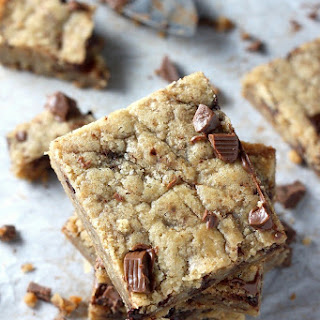 Soft and Chewy Coconut Oil Chocolate Chunk Cookie Bars