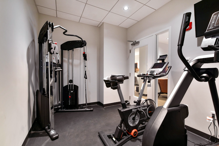 Gym at Downtown apartment