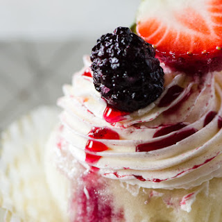 Vanilla Red Wine Berry Cupcakes