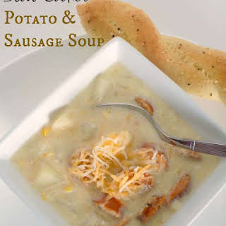 Slow Cooker Potato & Sausage Soup.