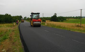 Photo: Nie zdążyli ukończyć drogi przed naszym przejazdem. Asfalt jeszcze gorący!