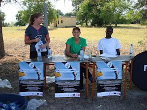 Photo: Peace Corps Volunteers managing the Marathon table