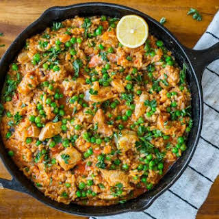 One-Skillet Healthy Paella.