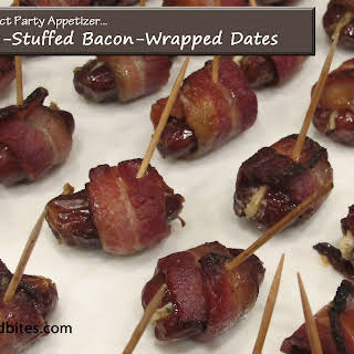 Cheese-Stuffed Bacon-Wrapped Dates.