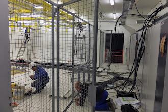 Photo: Couloir technique salle 1 #datacenter #reims (Visite de chantier 06.11.2014)