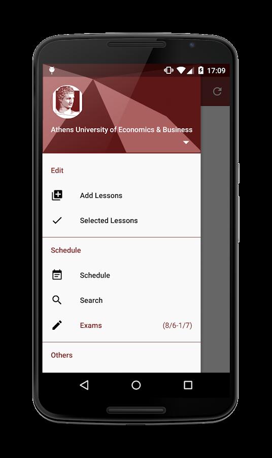 Academic Schedule - screenshot