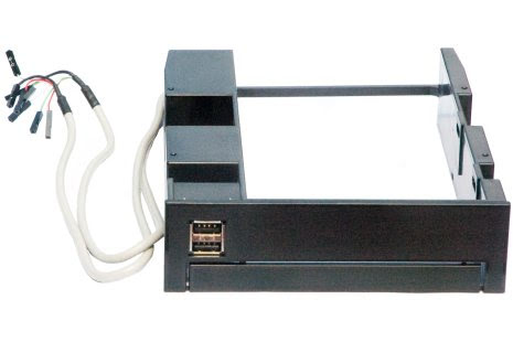 """I&S adapter for 5¼"""" brønn, 3½"""" og USB port, Sort"""