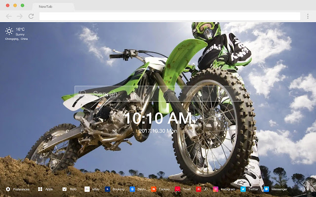 DirtBikes Pop Photography HD New Tabs Themes