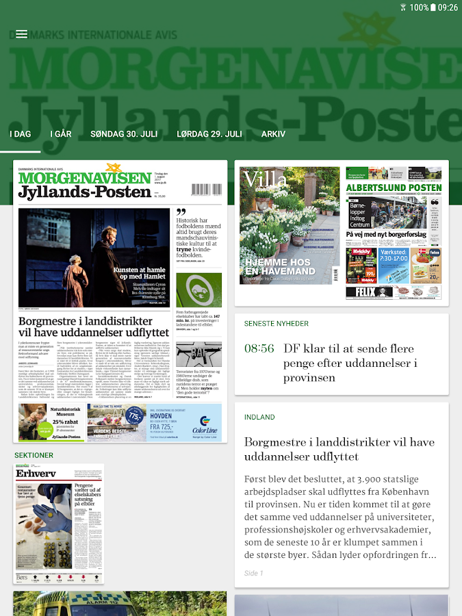 Morgenavisen Jyllands-Posten- screenshot