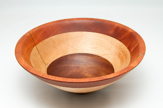 "Photo: Richard Webster  10"" x 4 1/2"" Bowl [macore, maple and walnut]"