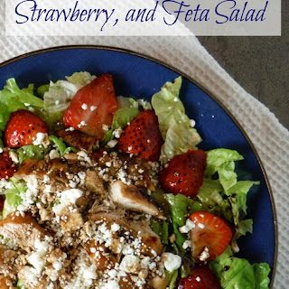 Balsamic Grilled Chicken, Strawberry, and Feta Salad