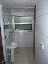 Photo: Beijing - very good 1st impression of nice luxurious green living quarter, little bit humid and cooler basement big room for 1400Y (1350Y after bargaining + 135Y for electricity/AC/water) with double bed, table with chair and cabinet, after few minutes of thinking I paid deposit so we could handle some pre-agreement already, convenient bathroom just next door from room with sink and next to it another shower room, so two showers for floor without people