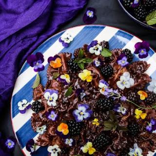 Chocolate Lavender Blackberry Pasta.