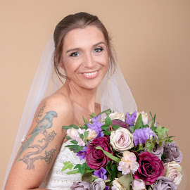 studio shoot by Anne E Milne - Wedding Other ( #bridal, #tattoos, # flowers #studio )