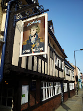 Photo: On to Ipswich! First stop was the Lord Nelson pub in the center of town.