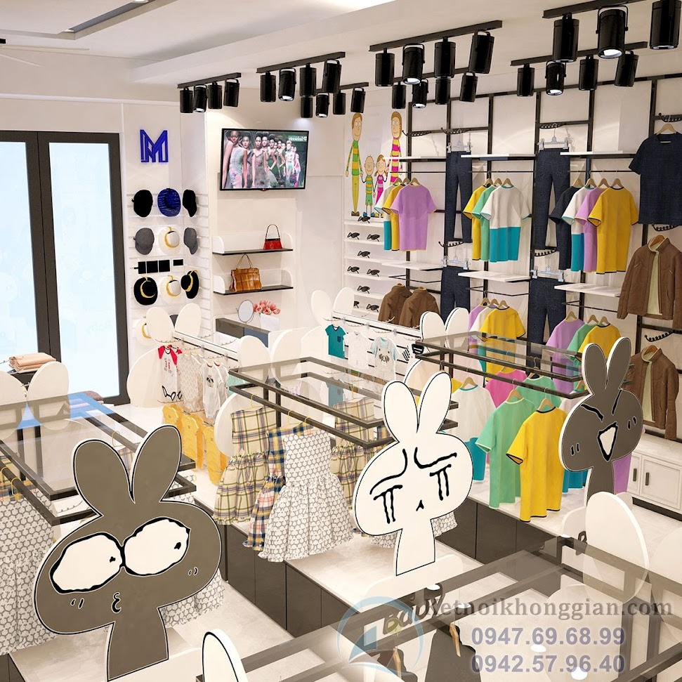 thiết kế shop quần áo thời trang trẻ em