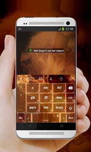 橘黃色的火焰 TouchPal|玩個人化App免費|玩APPs