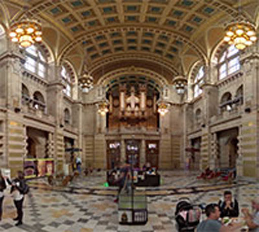 Inside the Kelvingrove Art Gallery and Museum in Glasgow, Scotland.