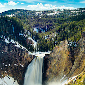 Lower Falls of the Yellowstone by Thomas Jones - Landscapes Waterscapes ( waterfall, yellowstone national park, wyoming, canyon, infinity prime photography, yellowstone river )