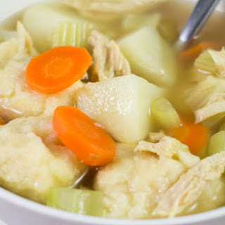 Shredded Chicken Dumpling Soup.