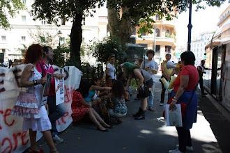 Photo: presidio in Via Arenula, in prossimità del ministero di Grazia e Giustizia