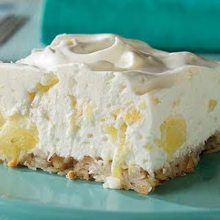Pineapple Cheesecake Dessert.
