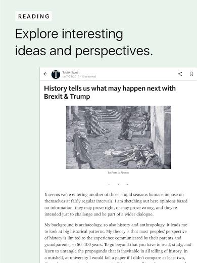 Screenshot 5 for Medium's Android app'