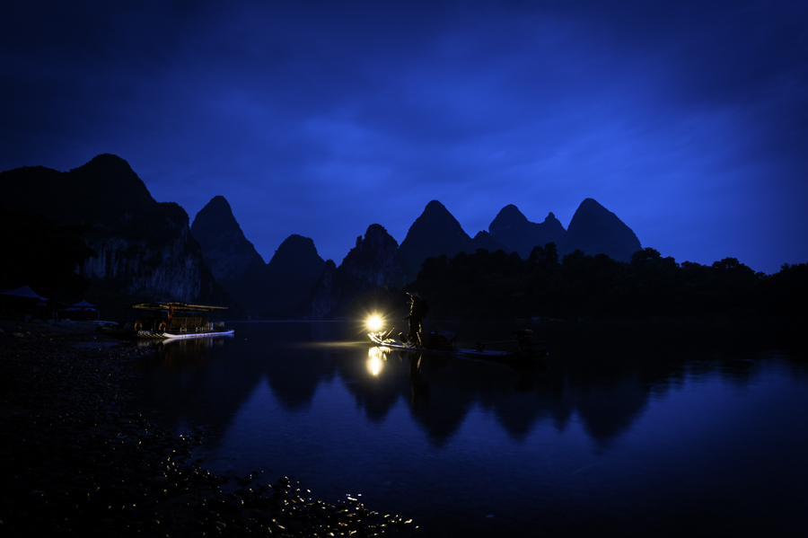 Comorant Fisherman of China by An Vo - Landscapes Travel ( comorant, fisherman, landscape, china )